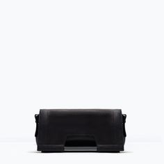 LEATHER BAG WITH METAL HANDLE from Zara