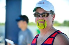 A man shows off his tennis fandom at the 2012 US Open. - Andrew Ong/USTA  NOW this cool!