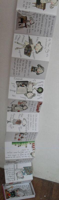 Ik noem ze de Flowmeisjes. (de meisjes uit het tijdschrift Flow ) Leuk, grappig en geweldig getekend! Ik maakte er een snailmail va...