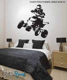 Fox Racing Logo Wall Decal with MX Dirt Bike - vinyl wall decor ...