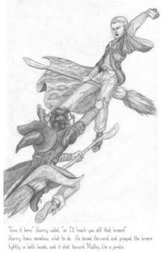 Harry v. Draco by NicoPony on DeviantArt History Of Literature, Harry Potter Artwork, A Beast, Drarry, Draco Malfoy, Hogwarts, Character Art, Chibi, Animation