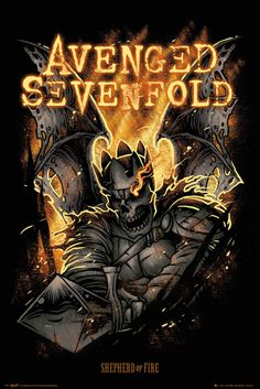 Avenged Sevenfold Shepherd of Fire - Official Poster. Official Merchandise. Size: 61cm x 91.5cm. FREE SHIPPING