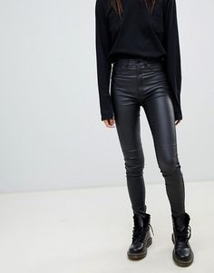 119f26cad4 20 Best Leather look Jeans images | Fall fashion, Fashion clothes ...