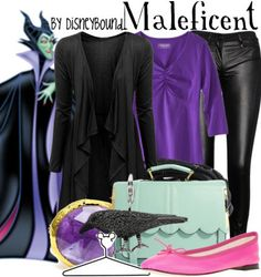 Maleficent. I get why the pink flats are there, but I would definitely wear a fierce pair of heels instead