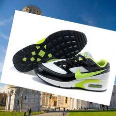 Nike Air Classicooo BW Textil Scarpe da ginnastica nero / bianco / verde neon Consegna veloce