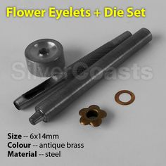 Flower Eyelets + Punch Die #Tool Set, Printing, Leather or Paper Craft, Sewing, Cards. 6mm  http://r.ebay.com/XYzm1B