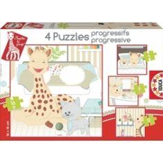 Sophie de Giraf Puzzel 4 Stuks