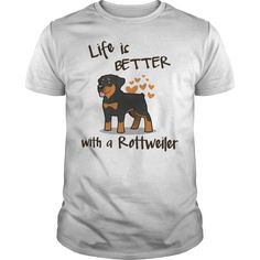 LOVE ROTTWEILER T-Shirts, Hoodies. CHECK PRICE ==► https://www.sunfrog.com/Pets/LOVE-ROTTWEILER-White-Guys.html?id=41382