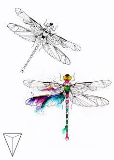 Dragonfly Drawing, Dragonfly Wall Art, Dragonfly Tattoo Design, Tattoo Designs, Mom Tattoos, Body Art Tattoos, Crown Tattoos, Heart Tattoos, Skull Tattoos