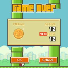 WHATS YOUR HIGH SCORE ON FLAPPY BIRD? MINE IS 12 :D