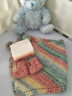 I used 4 skeins ofCascade Aran Splatter, colourway #10 for the blanket and 1 skein for the hat and booties. I loved this yarn and it got softer after I washed it. I used the simple universal Diagonal dishcloth or … Keep Reading...