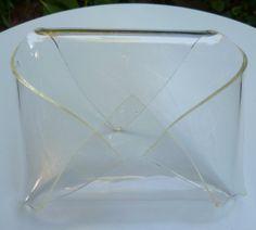 Vintage 70s Lucite Envelope-Shaped Letter Holder