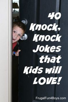 25 Hilarious Knock, Knock Jokes for Kids - Clean jokes that are funny! Funny Baby Jokes, Funny Cartoons For Kids, Funny Jokes To Tell, Cartoon Kids, Funny Babies, Funny Kids, Funny Knock Knock Jokes, Hilarious Jokes, Funny Memes