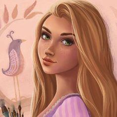 A closeup of my Rapunzel portrait ☀️💜 Disney Pixar, Disney Rapunzel, Tangled Rapunzel, Arte Disney, Disney Memes, Disney And Dreamworks, Disney Cartoons, Disney Magic, Disney Characters