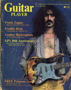 Frank Zappa on the cover of Guitar Player January 1977