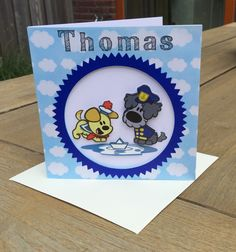 Thomas 2015, Woezel en Pip spelen met een bootje Homemade Cards, Coasters, Gifts, Presents, Coaster, Favors, Diy Cards, Gift, Handmade Cards