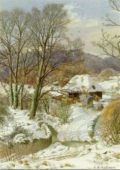 'Sussex Winter, South Downs' by Stanley Roy Badmin - an English painter and etcher, particularly noted for his book illustrations, and landscapes. Winter Landscape, Landscape Art, Landscape Paintings, Winter Illustration, Illustration Art, Book Illustrations, Snow Scenes, Winter Scenes, Snow Art