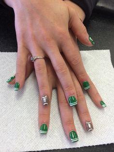 Michigan State nail art designs
