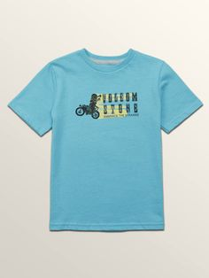 Volcom Little Boys Moto Mike Short Sleeve Tee - Blue Bird 4T