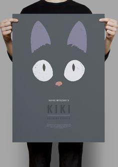 by Sara Maese -- series of minimalist posters for Studio Ghibli films. Here: Kiki'sDelivery Service. Hayao Miyazaki, Le Vent Se Leve, Geek Games, Film D'animation, Ghibli Movies, Cute Art, Illustrations Posters, My Idol, Geek Stuff