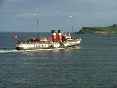 PS Waverley leaving Millport Isle of Cumbrae Scotland. One of the wonderful paddle steamers which made the crossing from the Scottish mainland to the island of Millport. I loved our holidays there and the trips on these paddle steamers. R McN