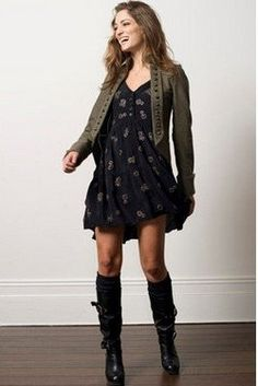 boots with dresses yes please