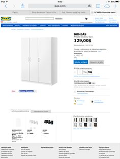 Armoire-Penderie Ikea 129$ pole & tablettes