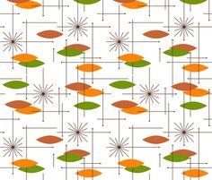 Elegant Mid Century Modern Tennis Fabric   Racquets By Mariaspeyer   Mod Scandi  Sport Nursery Decor Cotton Fabric By The Yard With Spoonflower | Mid Century  Modern, ...