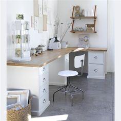 Fabriquer un bureau d 39 angle d co et r no en 2018 - Fabriquer un bureau d angle ...
