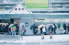 "caelestial: ""Snowy school girls by Vocalonation @necrophantasia on twitter! on Flickr. """