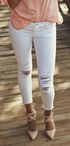 White + blush.
