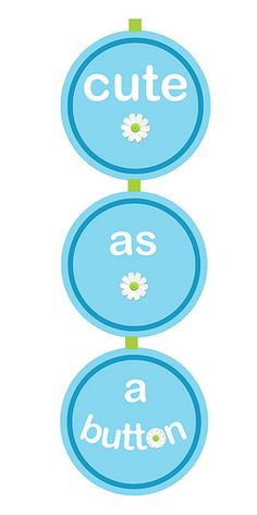 Free Printable Cute as a Button Baby Shower Banner
