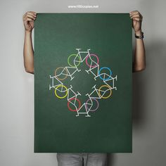 love this bicycle print. would be great in a mud room or kid's room