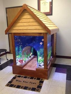 Fish Tank Doghouse #doghouse #pets
