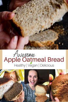 Vegan Bread Machine Recipe, Bread Machine Recipes Healthy, Bread Maker Recipes, Breakfast Bread Recipes, Easy Bread Recipes, Quick Bread, Dairy Free Recipes, Vegan Recipes, Oatmeal Bread Recipe