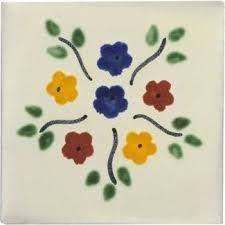 S013 Off White 25 TILES Ceramic MEXICAN Handmade 2x2 Mexico Pottery 2