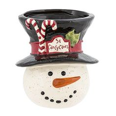 Grasslands Road A Very Merry Christmas: Snowman Candy Cane Holder