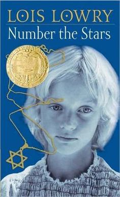 "Number to Stars by Lois Lowry. ""Tells the story of a Danish family with Jewish friends during World War II. Important to class: teaches the Holocaust on a personal level that young students can connect with. Important to me: brings the Holocaust to life while teaching the value of friendship."""