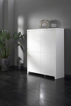 Hochglanz Highboard in Weiß online kaufen highboard ... | {Esszimmerschrank design 78}