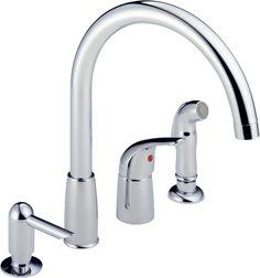 kingston brass kb3815glbs georgian kitchen faucet with brass sprayer