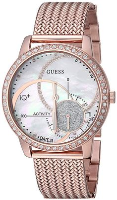 GUESS Womens Stainless Steel Connect Fitness Tracker Watch Color Rose Gold Tone Model C2001L2 ViralTrendsLab A Girls Best Friend