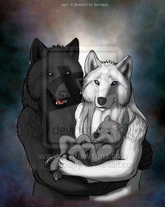 A werewolf family portrait by =sugarpoultry on deviantART