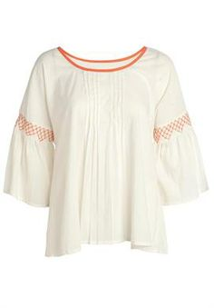 Plus Size Blouse, with embroidered sleeves image