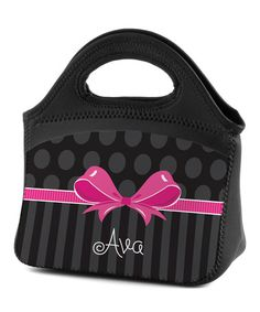 Another great find on #zulily! Sweet Bow Personalized Lunch Bag #zulilyfinds