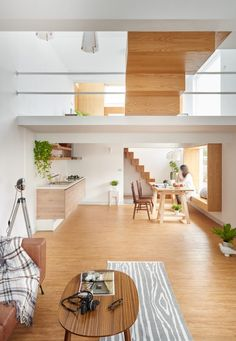 A striking feature, the wooden block staircase is the first introduction to this…