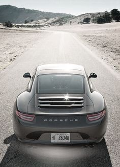 Perfect shot of a classic Porsche 911