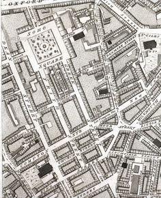 St Anne's Soho from Horwoods map of 1792