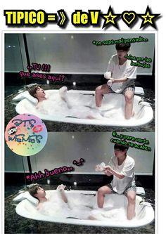 Read from the story MEMES DE BTS by Ktxebae (° 𝒕𝒂𝒆𝒌𝒐𝒐𝒌) with reads. Seokjin, Namjoon, Bts Taehyung, Bts Bangtan Boy, Taekook, New Memes, Funny Memes, Super Memes, Vkook Memes