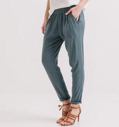 Pantalon fluide Femme ardoise - Promod