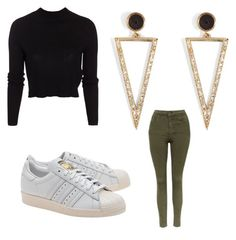 """""""Untitled #170"""" by journeycarothers on Polyvore featuring ONLY, Ileana Makri, Topshop and adidas Originals"""